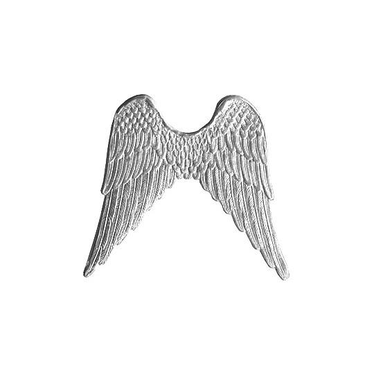 Large Silver Dresden Foil Wings ~ 4