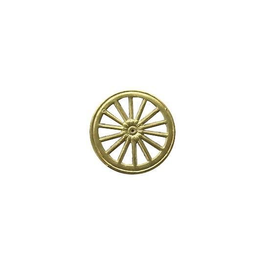Gold Dresden Foil Wheels ~ 10