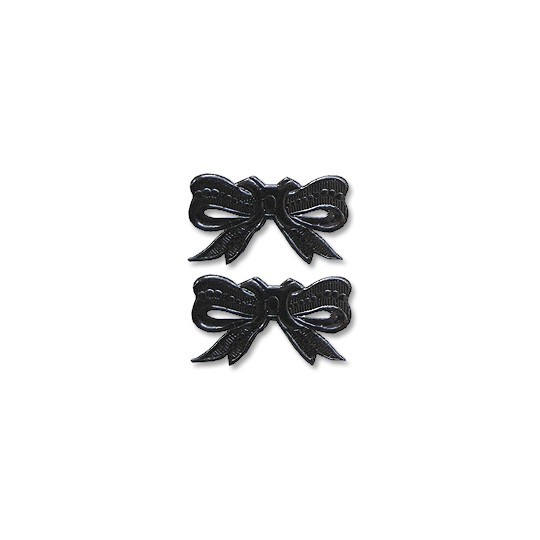 Black Dresden Foil Medium Bows ~ 10