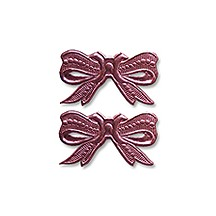 Pink Dresden Foil Medium Bows ~ 10