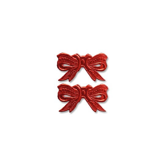 Red Dresden Foil Medium Bows ~ 10