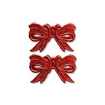 Red Dresden Foil Medium Bows ~ 10