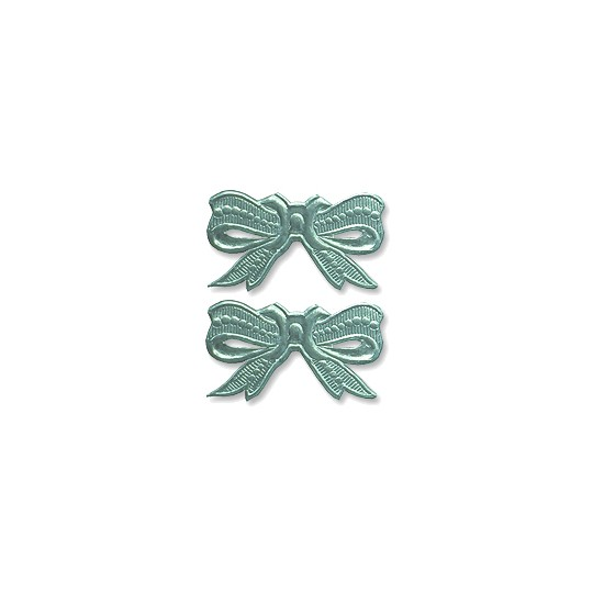 Aqua Dresden Foil Medium Bows ~ 10