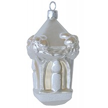 Large Blown Glass Candle Lantern ~ Poland