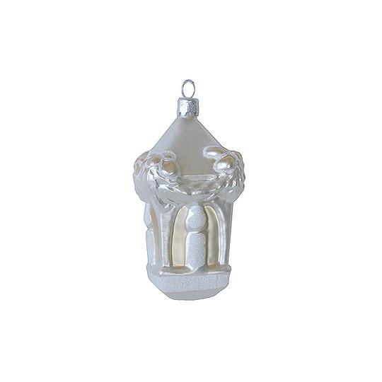 Large Blown Glass Candle Lantern ~ Poland