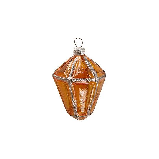 Amber Blown Glass Lantern ~ Poland