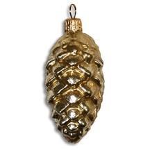 Yellow Gold Blown Glass Pine Cone ~ Poland