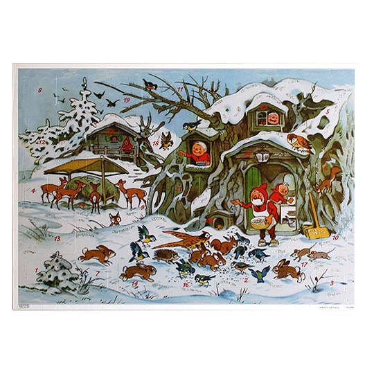 Feeding Animals Vintage Style Advent Calendar