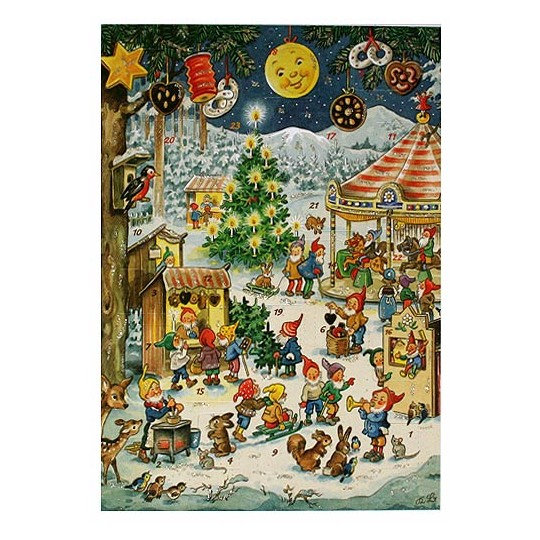 Christmas Fair Vintage Style Advent Calendar