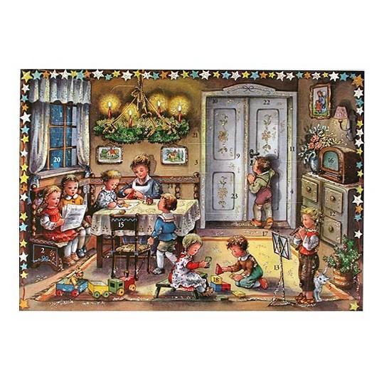 Christmas Preparations Traditional Style Advent Calendar