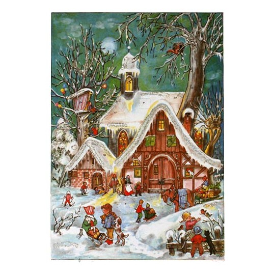 Gingerbread Village Vintage Style Advent Calendar