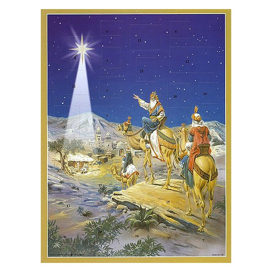 Three Kings Vintage Style Advent Calendar ~ Bible Verses