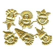 Gold Dresden Foil Jesters ~ 6