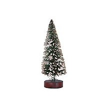 Undecorated Snowy Green Bottle Brush Tree ~ 4""