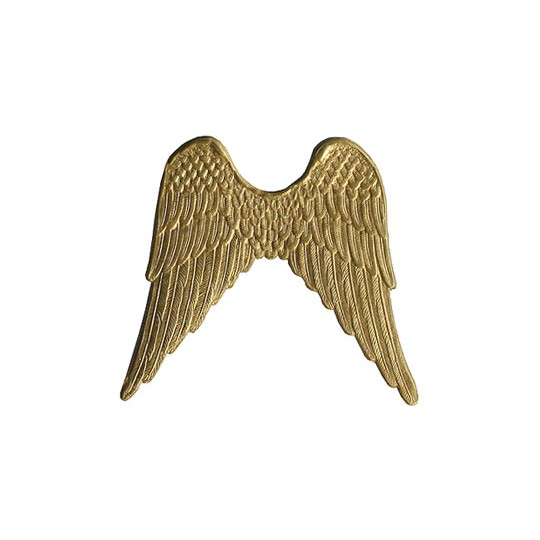 Large Gold Dresden Foil Wings ~ 4