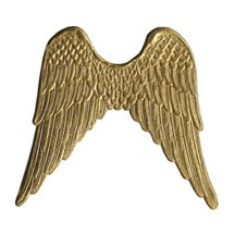 Large Gold Dresden Foil Wings ~ 4