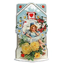 Vintage Valentine Pulldown Card