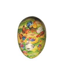 """3 1/2"""" Papier Mache Chick Nest Easter Egg Container ~ Germany"""
