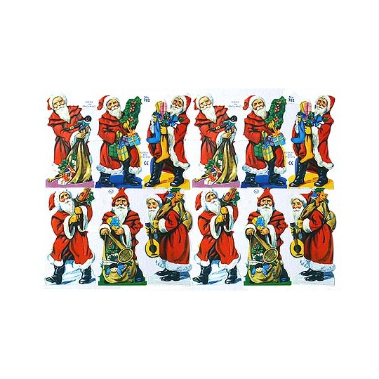 Traditional Santa Scraps ~ England