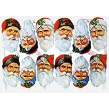 Large Santa Face Scraps ~ England