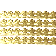 "Gold Dresden Elegant Shell Trim ~ 3/8"" wide"