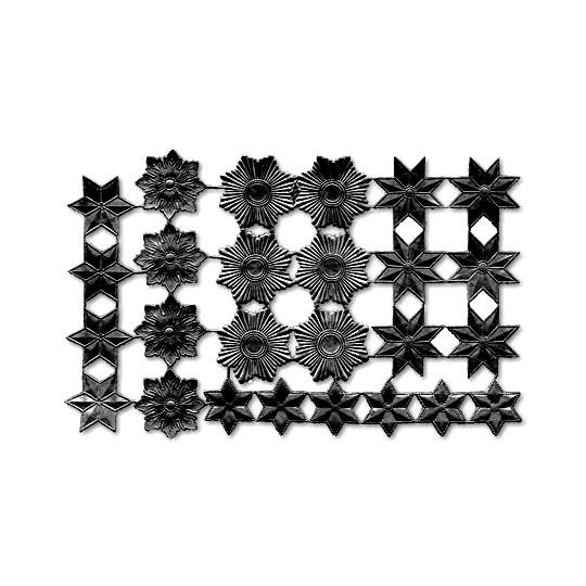 Black Dresden Foil Stars & Halos ~ 26 Assorted