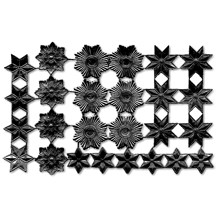 Black Dresden Foil Stars & Halos ~ 26 Assorted