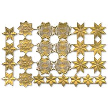Gold Dresden Foil Stars & Halos ~ 26 Assorted