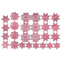 Pink Dresden Foil Stars & Halos ~ 26 Assorted