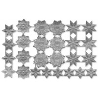 Silver Dresden Foil Stars & Halos ~ 26 Assorted