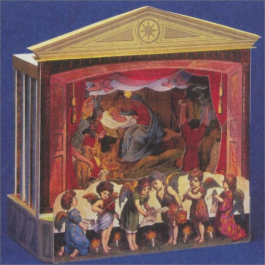 Theater Style Paper Christmas Manger Scene Project Kit ~ Germany