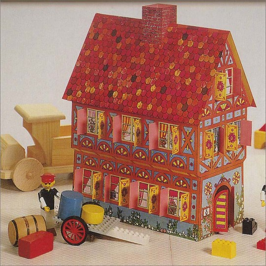 Colorful Playhouse Standing House Project Kit ~ Germany
