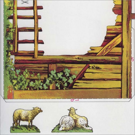 Small Paper Christmas Manger Project Kit ~ Germany