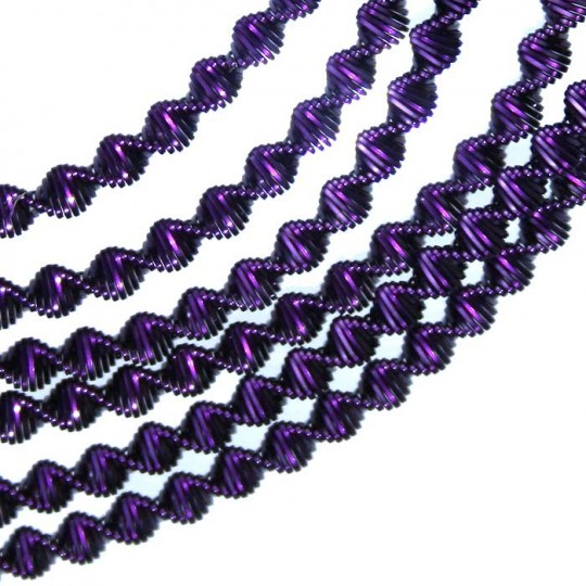Authentic German Zig Zag Bouillion Crinkle Wire ~ 3 mm Deep Purple
