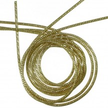 Authentic German Bouillion Crinkle Wire ~ 2 mm Gold