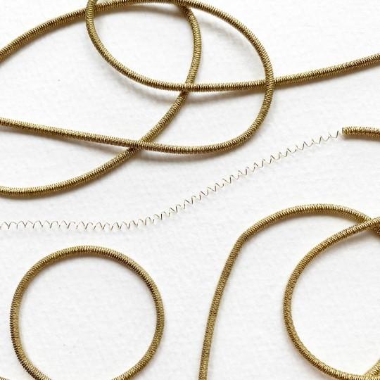 Authentic German Bouillion Crinkle Wire ~ 2 mm Antique Gold