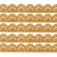 "Antique Gold Dresden Scalloped Trim ~ 1/2"" wide"