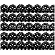 "Black Dresden Scalloped Trim ~ 1/2"" wide"