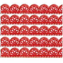 """Red Dresden Scalloped Trim ~ 1/2"""" wide"""