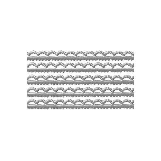 "Silver Scalloped Petite Dresden Foil Trim ~ 3/16"""