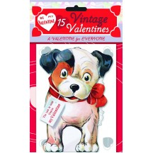 "Pack of 15 Retro Valentines ""A Valentine for Everyone"" featuring Animals and Children ~ USA"