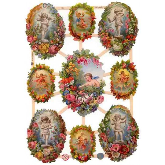 Cherubs and Floral Vignettes ~ Germany ~ New for 2013