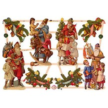 Victorian Santas with Children Scraps ~ Germany ~ New for 2013