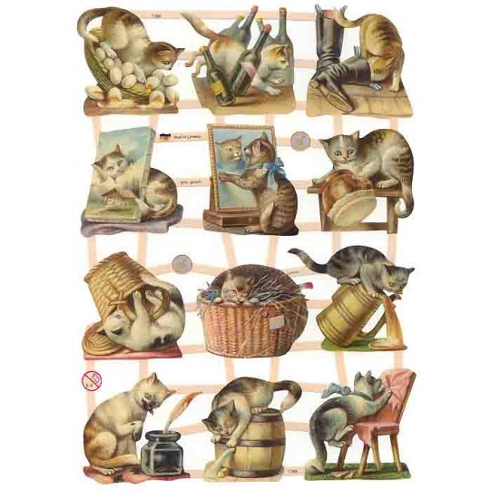 Naughty Kitty Cat Scraps ~ Germany ~ New for 2013