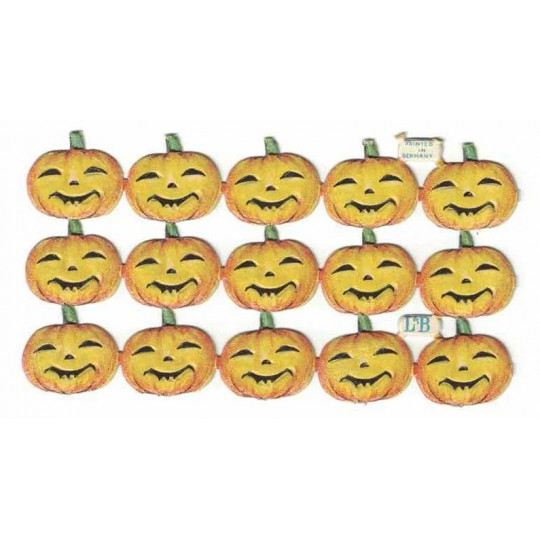 Vintage Pumpkin Halloween Scraps ~ Germany