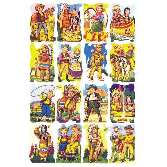 Children Cowboys and Indians Scraps ~ England
