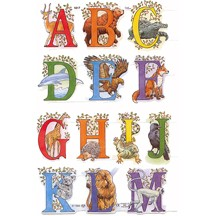 Animal A-M Alphabet Scraps ~ England