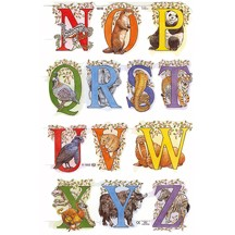 Animal N-Z Alphabet Scraps ~ England