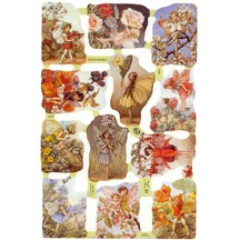 Mixed Flower Fairies Scraps ~ England ~ Out of Print