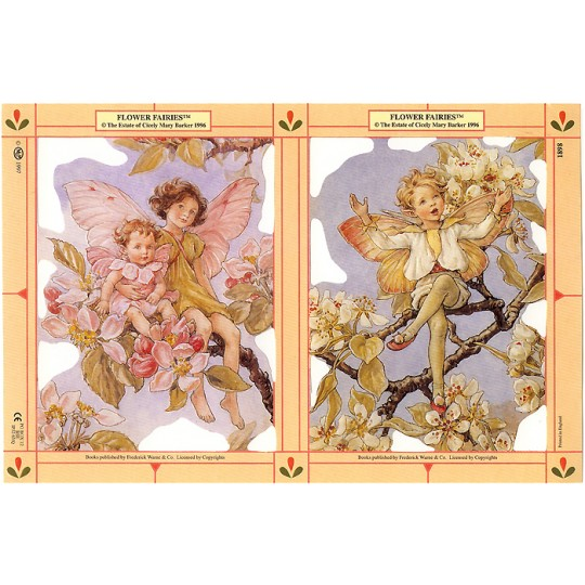 Large Cherry Blossom and Dogwood Flower Fairies Scraps ~ England ~ Out of Print